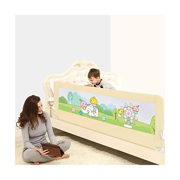 Playpens Crib Guardrail Baby Shatter-resistant Fence Large Bed 1.8-2.0 Meters Children Against Bedside Baffle (Size : 1.8m) Playpens ★ high quality non-toxic materials,Size:180cm/200cm ★ Vertical lift structure: no space is occupied, and it is more convenient to enter and exit. Push the fence down at the push of a button ★ height adjustment: can be adjusted according to the thickness of the mattress, so that the bed is close to the mattress. Avoid gaps between the mattress and the guardrail to prevent your child from falling 4