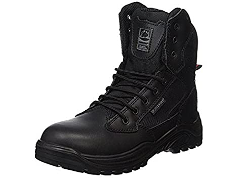 Groundwork New Branded Mens Work Safety Boots Protective Steel Toe Cap Slip Resistant Oil Resistant Sole Padded Collar And Tongue Comfortable Cushion Insole Durable Material Swap Military Combat Police Work Army Military Branded Footwear Hardwearing Hardwearing Premium Quality & Fashionable Design Comfortable Leather Black UK 10