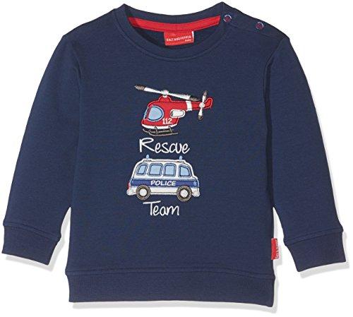 SALT AND PEPPER Baby-Jungen Sweatshirt B Sweat Little Hero Rescue Blau (Crown Blue 463), 86