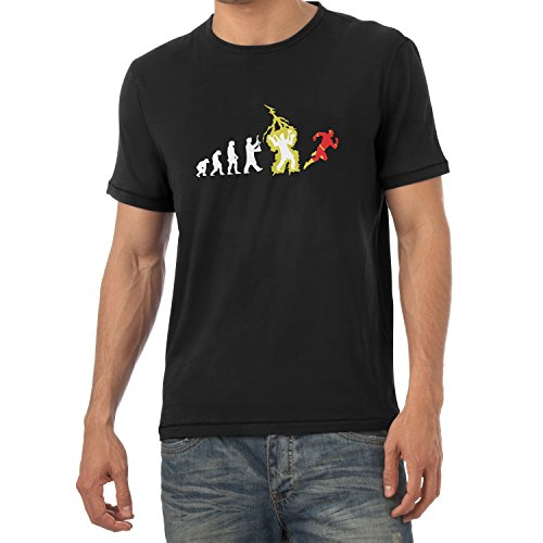 Star Kostüm Labs Flash - Texlab Speedster Evolution - Herren T-Shirt, Größe S, Schwarz