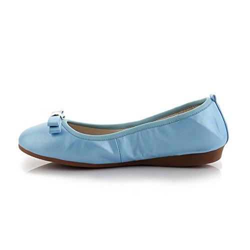 Adee nœuds pour femme Polyuréthane Pompes Chaussures Bleu