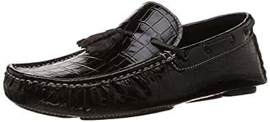 BATA Men's Nick Black Leather Loafers and Mocassins - 8 UK/India (42 EU) (8556123)