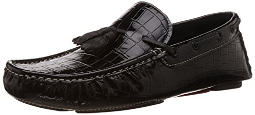 Bata Men's Nick Black Leather Loafers and Mocassins – 9 UK/India (43 EU) (8556123) 41 uyHD3bWL