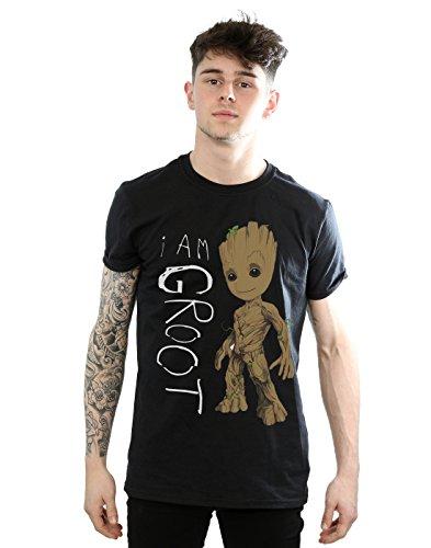 marvel-t-shirt-aucun-motif-manches-courtes-homme-noir-medium