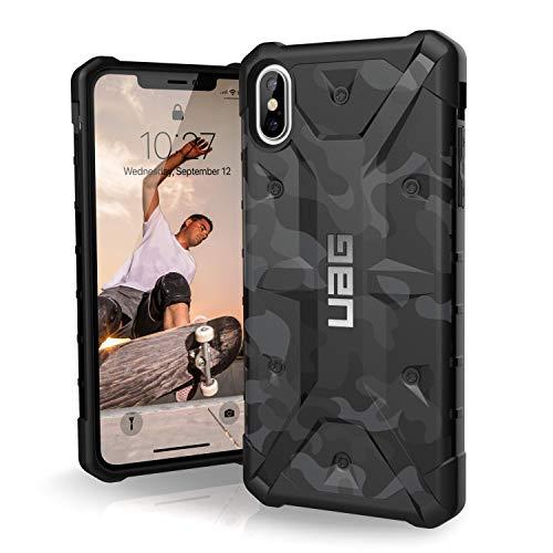 Urban Armor Gear Pathfinder Schutzhülle nach US-Militärstandard für Apple iPhone Xs Max (Camo schwarz) [Qi kompatibel I Verstärkte Ecken I Sturzfest I Antistatisch I Vergrößerte Tasten] - 111107114061 -