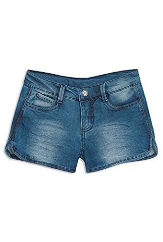 GATO NEGRO Mädchen Shorts in Denim-Optik Mädchen-Shorts,Hot-Pants,kurze Hose,Jeans-Shorts