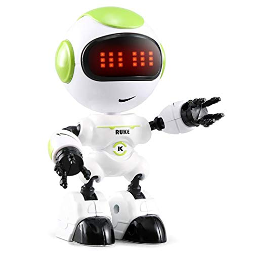 melysEU Niños Robot Juguete Control Pequeños Touch Sensing LED Eyes Smart Voice Robot Niños Educación Juguetes (Verde)