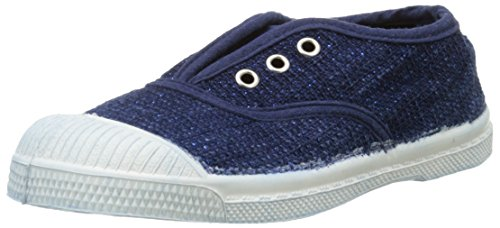 Bensimon Elly Indigo Tweed, Baskets Basses Mixte Enfant Bleu (532 Bleu)