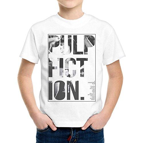 T-Shirt Bambino Ragazzo Scritta Pulp Fiction Scene Film -