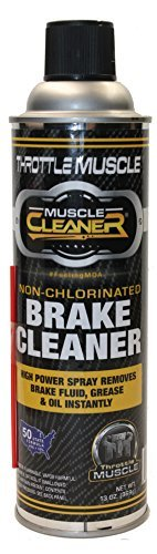 Throttle Muscle TM8487 - Brake Parts Cleaner 50 State Compliant Non-Chlorinated 13 Oz by Throttle Muscle