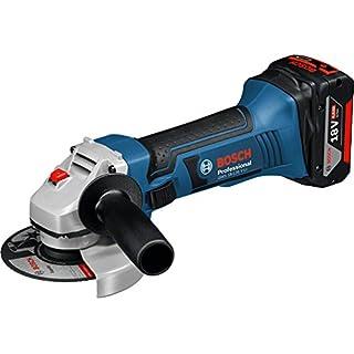 Bosch Professional 060193A30F GWS 18-125 V-LI Akku-Winkelschleifer GWS18-125V-Li Bosch, 18 V, Schwarz, Blau