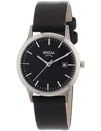 Boccia B3180-02 - Reloj de mujer de cuarzo, correa de piel color negro
