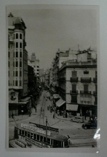 Antigua postal fotográfica. Old photo post card. Nº 85 - VALENCIA - Calle de Ruzafa
