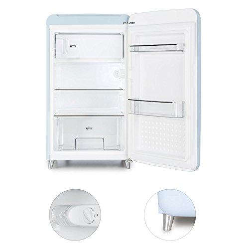 Klarstein PopArt Blau Retro-Kühlschrank mit Gefrierfach kompakte Fifties-Style Gefrier-Kombi - 4