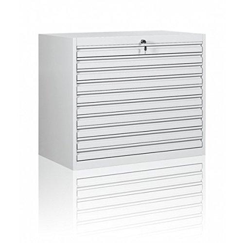 DIN A1 Planschrank Zeichnungsschrank Großformate Schrank, 10 hohe Schubladen