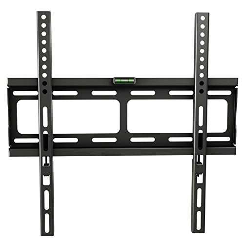 RICOO Support TV mural Meuble TV mural F0244 Fixation Murale TV support tele mural support ecran plat bras TV meuble TV mural pas cher fixation murale meuble mural bras TV Support VESA 400x400 / SLIM