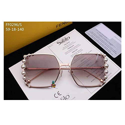 day spring online shop Italy Designer Eyeglass Frames Glasses Pearl Decoration Full Frame for FF0296-glod red