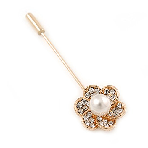 gold-tone-clear-crystal-white-pearl-flower-lapel-hat-suit-tuxedo-collar-scarf-coat-stick-brooch-pin-