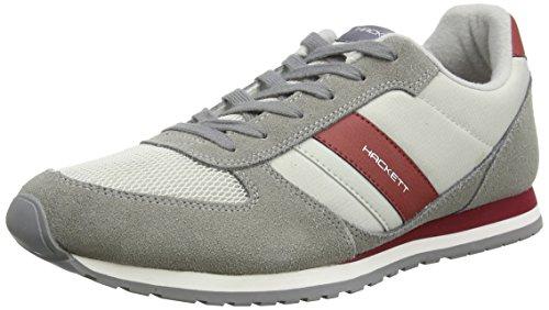 Hackett London Winfield ST Sneaker 2, Pantofole Uomo, 9GAGREY/Plum (9GAGREY/Plum), 40