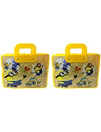 Majik Combo Of Fancy Kids Bags For Travel, Hand Bags For Boys Kids, Big Size, Yellow, 70 Gram, Set Of 2, Pack...