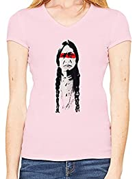 Banksy Indian Design Camiseta Cuello en V Mujeres XX-Large