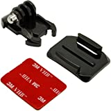 3 In One With 1 X Basic Buckle And 1 X CURVE 3M Adhesive Sticky Mount For GoPro Hero 5 4 3 2 SJ Cam Yi