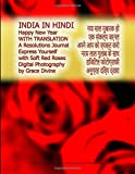 INDIA IN HINDI  Happy New Year WITH TRANSLATION A Resolutions Journal Express Yourself with Soft Red Roses Digital Photography by Grace Divine