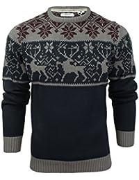 Xact Mens Christmas Jumper Xmas/Reindeer Stag