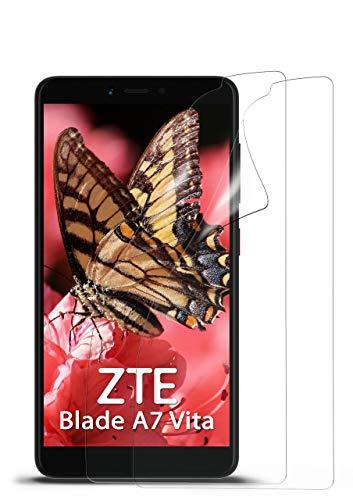 moex 2X ZTE Blade A7 Vita | Schutzfolie Klar Bildschirm Schutz [Crystal-Clear] Screen Protector Display Handy-Folie Dünn Bildschirmschutz-Folie für ZTE Blade A 7 Vita Bildschirmfolie