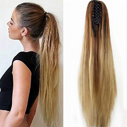 ic Clip-In Hair Straight Heat-Resistant Long Full Extension Hairpiece Carnival/Fancy Dress/Party/Shows Perücke ()