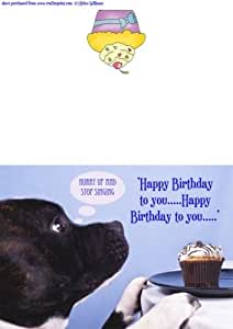 Craftsuprint Carte d'anniversaire Motif Staffordshire Bull Terrier par Helen Williams