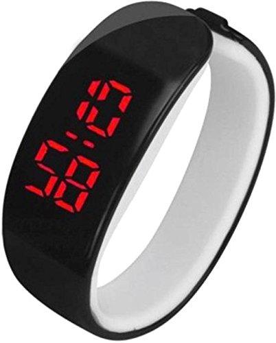 Zdelhi Rubber Magnet Led Sport/Analog Watches Round Dial Wrist Watch for Women/Girls