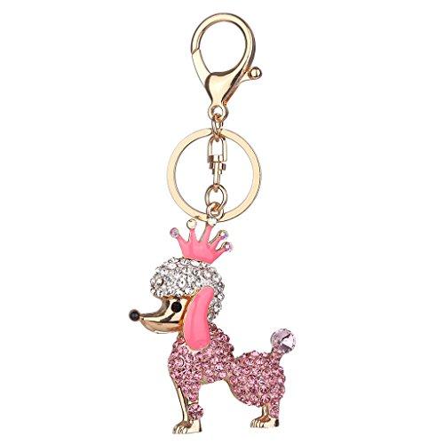 stal Taschenanhänger Schlüssel Handtasche Anhänger Kettenanhänger Schmuck - Rosa Pudel (Rosa Pudel Kostüm)