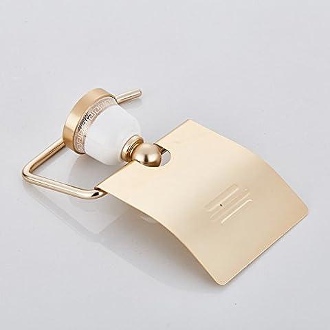 La Céramique Box _ Doré en aluminium Espace Serviette Rack Nouveau riche Carton papier