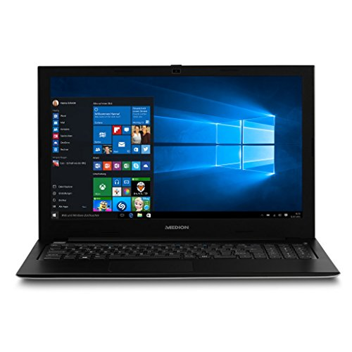 MEDION AKOYA S6219 MD 60626 39,6cm (15,6 Zoll mattes Full HD Display) Notebook (Intel Celeron N3060, 4GB RAM, 500GB HDD, Intel HD-Grafik, Win 10 Home) silber