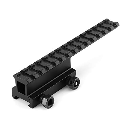 Alomejor Jagd Picatinny Flat Top Adapter Verlängern Weaver 20mm Scope Rail -