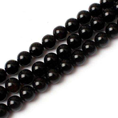 Paialco 6mm Schwarz Rund Achat Perlen Strang 38,1cm Jewelry Bead -