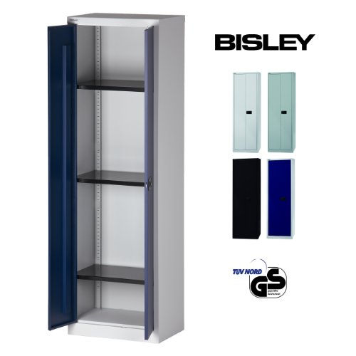 BISLEY Aktenschrank | Werkzeugschrank | Flügeltürenschrank aus Metall abschließbar inkl. 4...