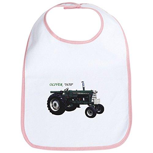 Traktor Oliver (CafePress–Oliver Traktoren–Cute Stoff Baby Lätzchen, Toddler Lätzchen, Pink)
