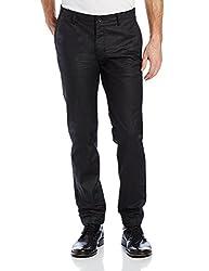 Calvin Klein Mens Ultra Slim Fit Coated Twill Jean Black (32W x 32L)