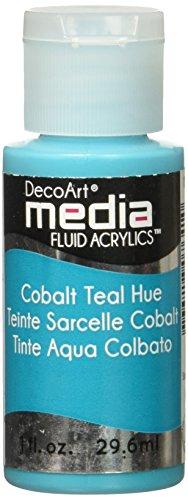 Deco Art Coblt teal-media Fluid Acryl, Acryl, mehrfarbig