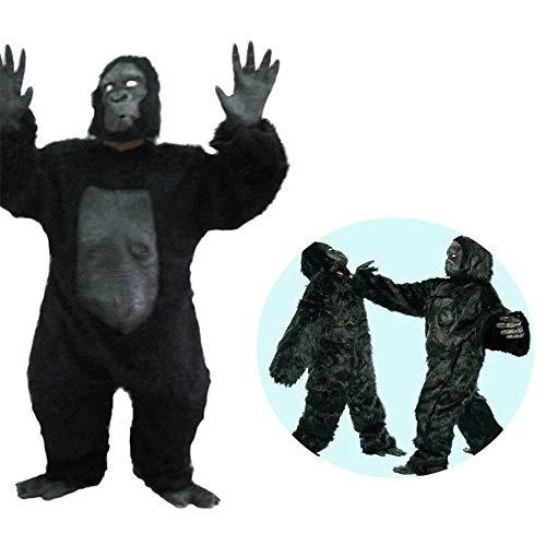 WXH Halloween Party Animal Kopf Maske Schimpanse Gorilla Kinderkostüm, siamesisches Design, Festival lustiges heikles Geschenk, Performance Kostüme Kleidung Bar Requisiten (Schimpanse Maske Kostüm)