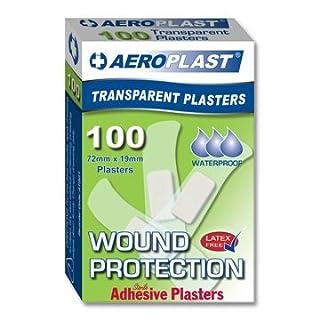 Aeroplast Transparent Plasters, 72mm x 19mm (100 per box)