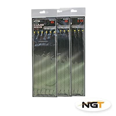 18 Braid Carp Fishing Hair Rigs Size 6,8,10 6 Of Each Size Fishing Tackle Barded by NGT