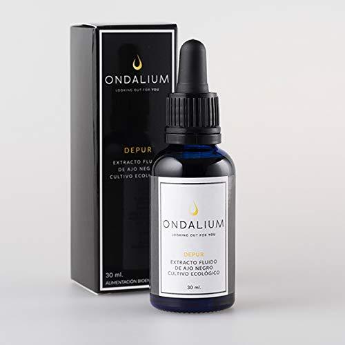 Ondalium DEPUR | Extracto fluido depurativo con AJO NEGRO ecológico (1 mes) - Producto para la eliminación de toxinas y DETOXIFICACIÓN del organismo, ayudando a la eficacia de las DIETAS