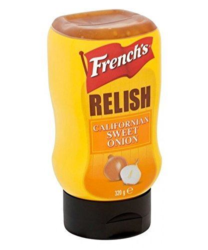 French's Sweet Onion Relish (1 Flasche) 320g - ideal zu Burger, Hot Dogs und Sandwiches Relish