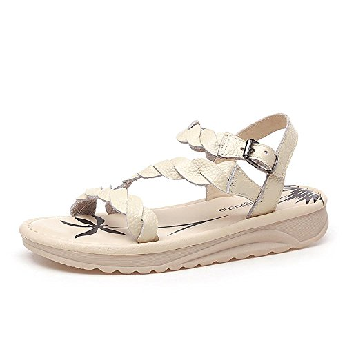 ALUK- Chaussures de plage Bottom ( couleur : Off white , taille : 36 ) Off white