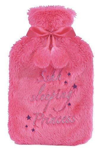 Hari Deals Wärmflasche mit Weich Plüsch Pelz Gestrickt Fleece Entfernbar Abdeckung - Pink1, S