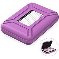 """ORICO Festplattentasche Schutztasche Schutzbox (3.5"""", Lila) - Aufbewahrungstasche für 3,5 Zoll Festplatten Western Digital WD Seagate Toshiba Samsung Intenso"""