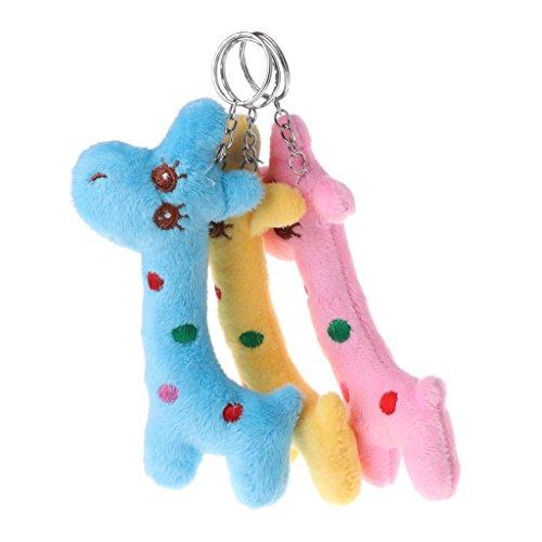 ere Simulation Giraffe Puppe Gefüllte Nette Kinder Geschenk 12 cm Anhänger Dekor Wie Bilder Gezeigt One Size ()
